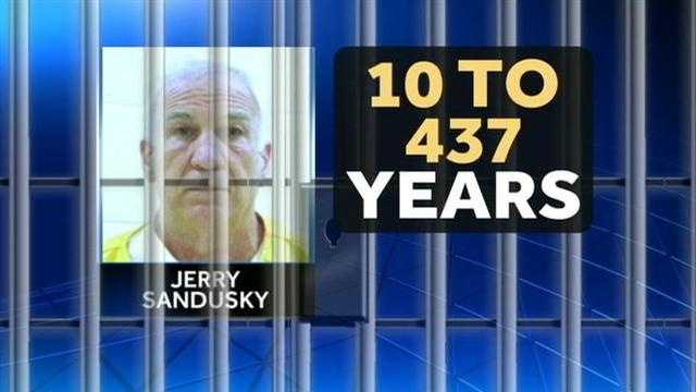 SANDUSKY SENTENCING THE DAY BEFORE