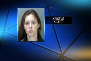 Police say after they arrested robbery suspect Kristle Kraft, she slipped out of her restraints twice, assaulted an officer and damaged her holding cell.