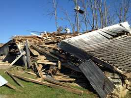 Cleanup from Friday's tornado in southern Lancaster County was still under way Monday morning in Drumore Township.