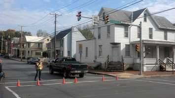 This is the Second and McKinley streets scene in Chambersburg.