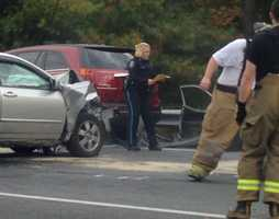 A crash closed part of Route 72 in Lebanon County on Tuesday afternoon.