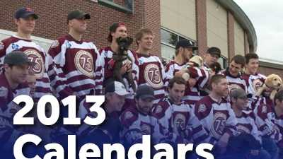 "Support United Disability Services by purchasing one of these great 2013 calendars, featuring your favorite hershey Bears players and these cute pups.  This ""Pucks and Pups"" calendar is available at all Hershey Bears home games, at the UDS table on the mezzanine level, or through this link on the WGAL uLocal Community Page."
