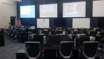 The facility in Middlesex Township is where staff will gather to monitor the Hurricane Sandy and what's going on in the county.