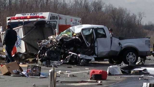 This photo of the crash scene was shared on u local.