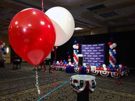 Tom Smith is challenging Bob Casey in the U.S. senate race. Smith's headquarters is at a Sheraton in Pittsburgh.