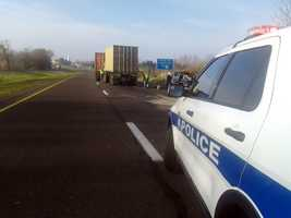 Route 222 crash scene