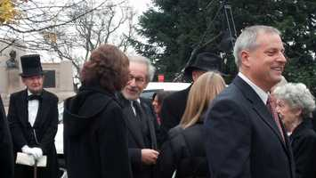 Steven Spielberg asked sixteen newly minted Americans to remember equality as the Abraham Lincoln biopic director marked the 149th anniversary of the president's famous Gettysburg Address.