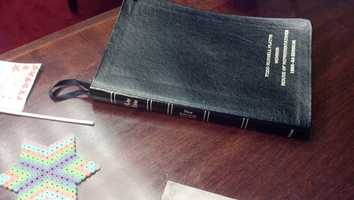 Platts has held on to this Bible that dates back to his days in the Pennsylvania House of Representatives, which he was sworn in to on Jan. 5 1993. It made the trip with him when he became a U.S. representative and has a place on his D.C. desk.
