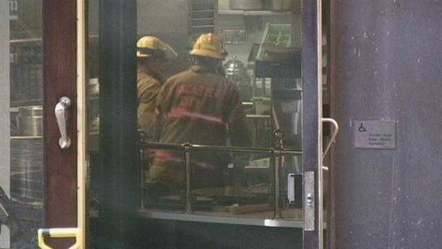 The sprinkler system went off and firefighters got it under control quickly. The kitchen and dining room of the restaurant in the first block of West King Street had some smoke damage.