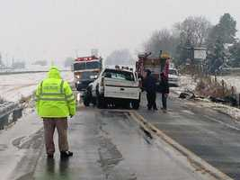 The crash happened along Rocherty Road near Village Road.
