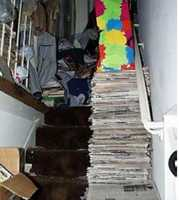Some of the things that characterize OCD-based hoarding are obsessions, such as superstitious thoughts. For instance, a sufferer may believe that throwing something away will result in some kind of catastrophe. There may also be beliefs that things can become contaminated. So a hoarder may not allow objects to be touched for fear of this, so the objects pile up and accumulate.