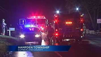 A Cumberland County woman was injured Thursday while escaping her burning home in Hampden Township.