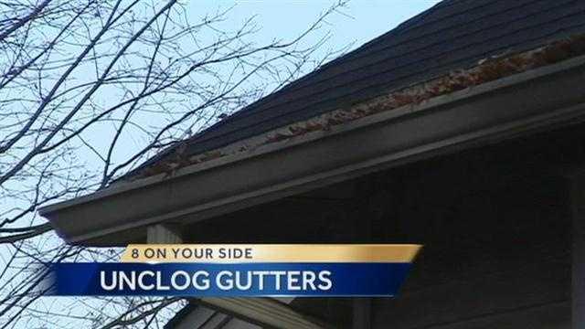 12.3 unclog gutters