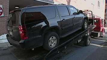 Schaffer was spotted washing this SUV at a Highspire car wash on Tuesday. He was captured after a chase.