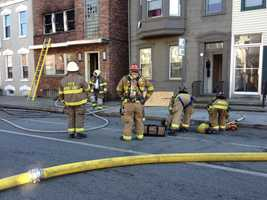 There were two occupied buildings next to the abandoned structure, but neither was affected by the fire.