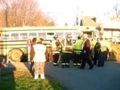 An SUV slammed into a school bus Friday morning in Lower Windsor Township, York County.