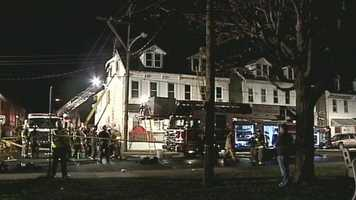 Twenty-one people were displaced in a York fireSunday evening.The fire started in a home in the 500 block of West Princess Street and spread to three other homes.