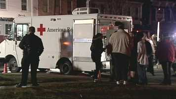 The American Red Cross is helping the residents. No one was hurt.