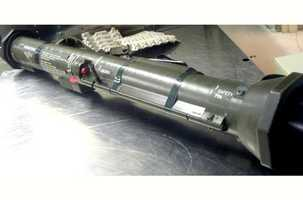 One of the more unusual finds recently was this AT-4 rocket launcher found in a checked bag at Latrobe, Pa. in Dec. 2012. A TSA official said the single-shot launcher had recently been expended and was of no danger. However, it did surprise TSA workers.