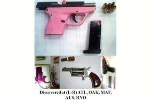 Again, these guns were found in carry-on bags at airports around the country.