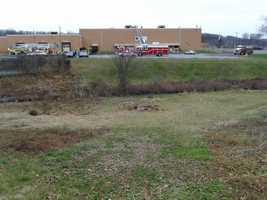 An air handler caught fire Wednesday morning at a York County business.