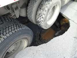 The sinkhole shut down North 4th Street from McClay to Woodbine streets and also led to a boil water advisory.