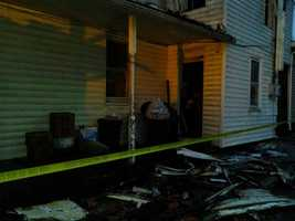 Firefighters battled a fire at a building in Middletown around 3 a.m. on New Year's Day.