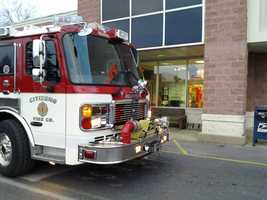 Employees spotted the blaze in a utility room. Smoke is throughout the store.