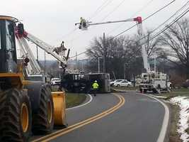 By 11 a.m., PPL crews had restored power to Letort Elementary School.