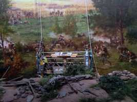 In 2009, the painting, which depicts the battle, was installed at the new visitor's center.