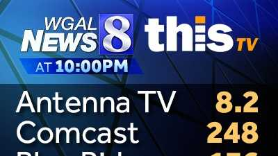 The channels where you can watch WGAL News 8 at 10PM beginning February 4, 2013