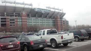 Baltimore police said M&T Bank Stadium has reached maximum capacity for the free Super Bowl celebration and is no longer open to arriving fans.