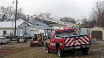 A passerby reported the fire at Startling Line Auto Body on Trindle Road about 7:30 a.m. Thursday.