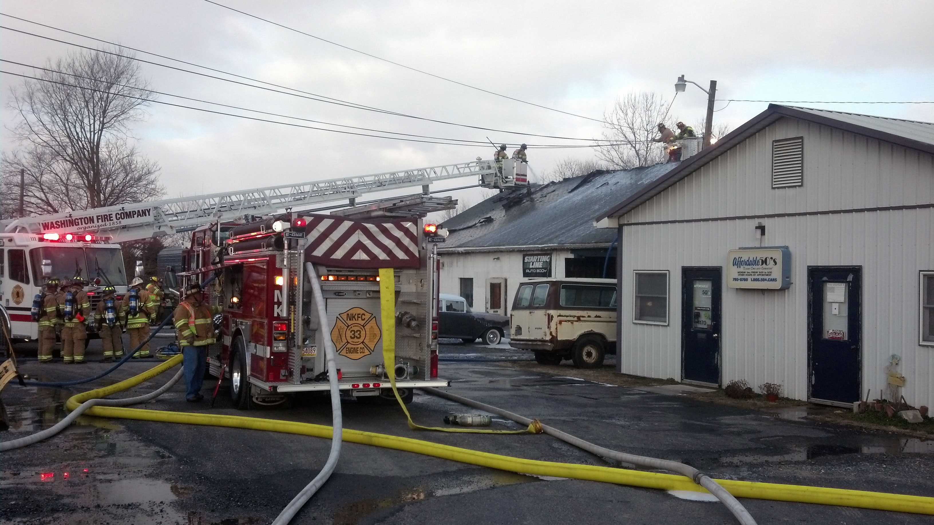 The fire went to two alarms because of manpower.