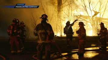 The Franklin Fire Company battled the blaze Thursday morning in the 4900 block of Guitner Road.