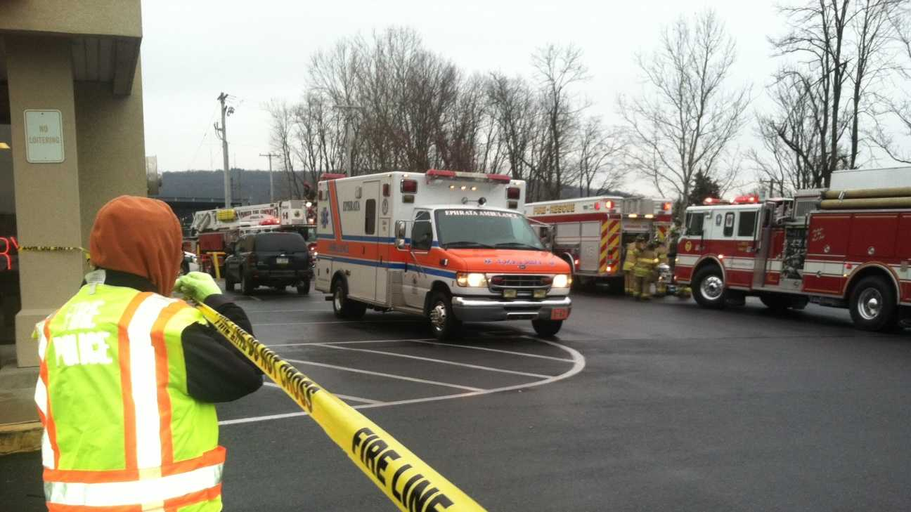 Rescue crews responded to a report of building collapse in Ephrata, Lancaster County, on Tuesday afternoon.