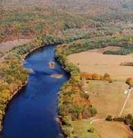 3. The Delaware River. The Delaware River is 419 miles long and flows through New York, New Jersey, Pennsylvania and Delaware.