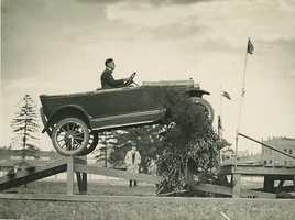 And early automobiles also provided opportunities for new thrills.