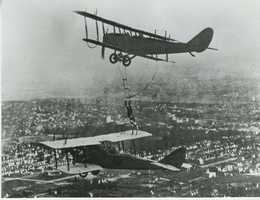 The pilots would organize an event at a farmer's field or any large open area, and townspeople would show up to watch the show and buy tickets for personal flights.
