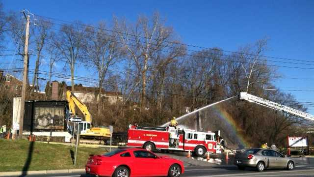 Fire crews were called back to Penn Glass Monday afternoon.