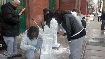 Ice sculptures …