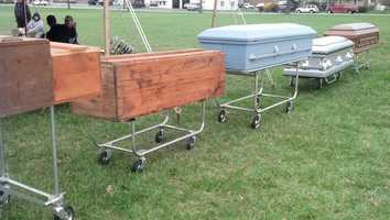 The Gundel Funeral Home auction was not your average auction.