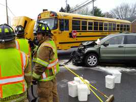 A school bus and an SUV were involved in a crash on Hackman Road near Route 322 this morning near Ephrata.