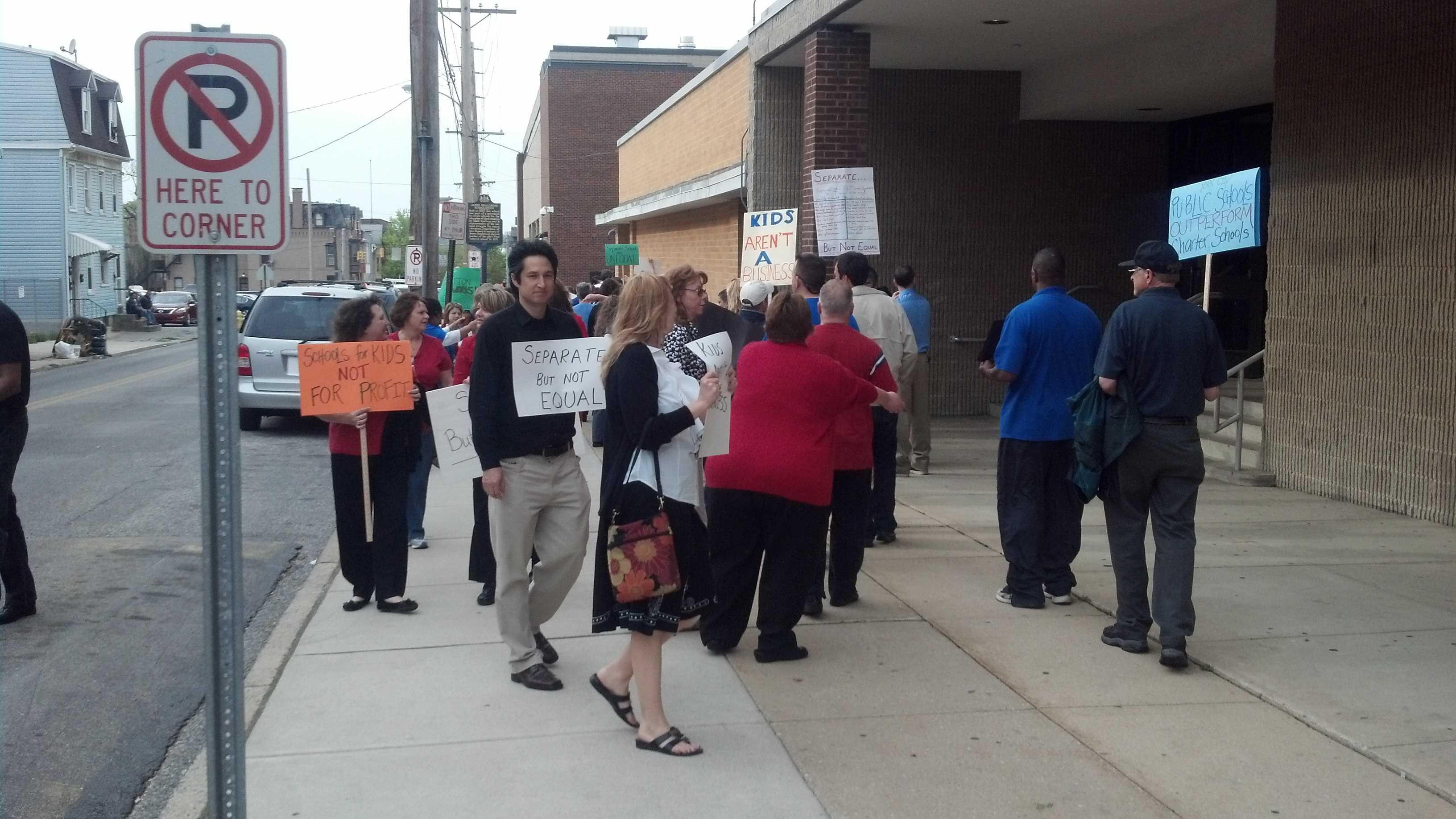 Teacher protest