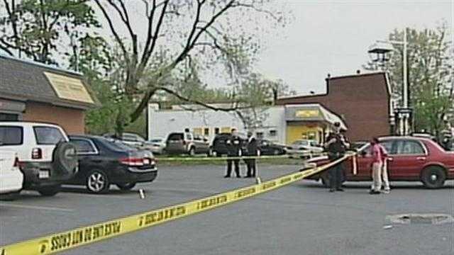 Double stabbing scene
