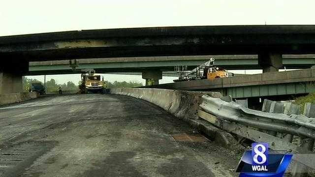 PennDOT released this and the following images Thursday afternoon, showing the extent of the damage.