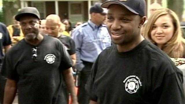 Firefighter returns home