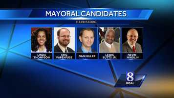 In Harrisburg, all eyes are on the race for mayor. Incumbent Linda Thompson is facing democrats Eric Papenfuse, Lewis Butts Jr. and City Controller Dan Miller for the nomination. Nevlin Mindlin is running as an Independent. There are no Republicans running for mayor.