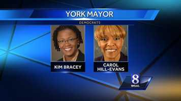Another big race News 8 is watching is the Democratic nomination for York mayor. Incumbent Kim Bracey is being challenged by City Council President Carol Hill-Evans.