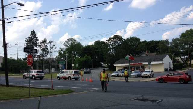 Media were restricted to a staging area Thursday afternoon in Ephrata as police dealt with a standoff.